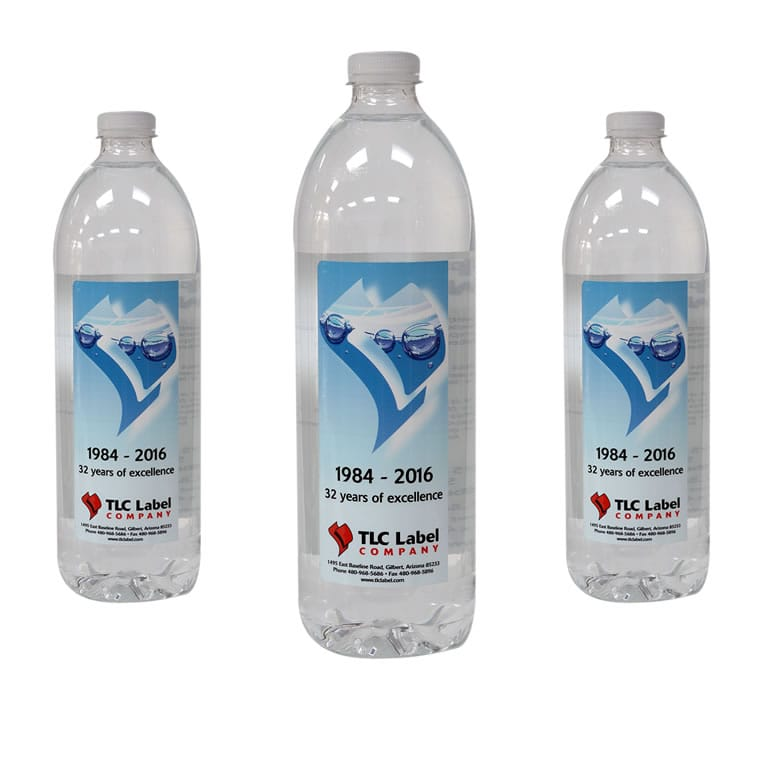 Water Bottle Label Printing Tlc
